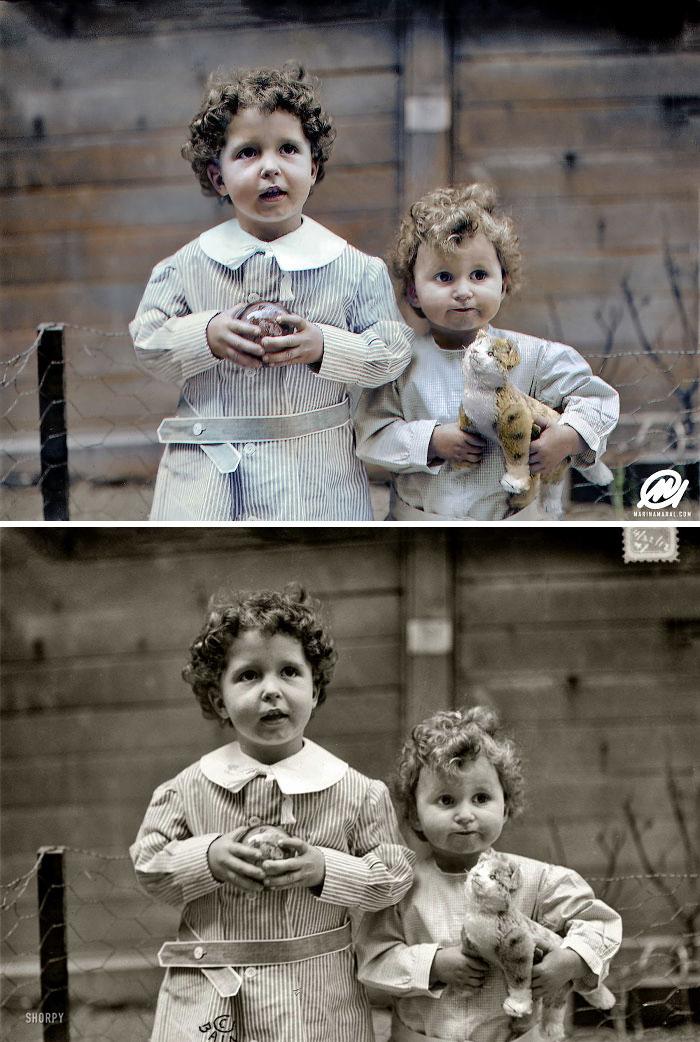 Huérfanos titánicos, hermanos Michel y Edmond Navratil, 1912. Eran los únicos niños que serían rescatados del Titanic sin Un padre o tutor