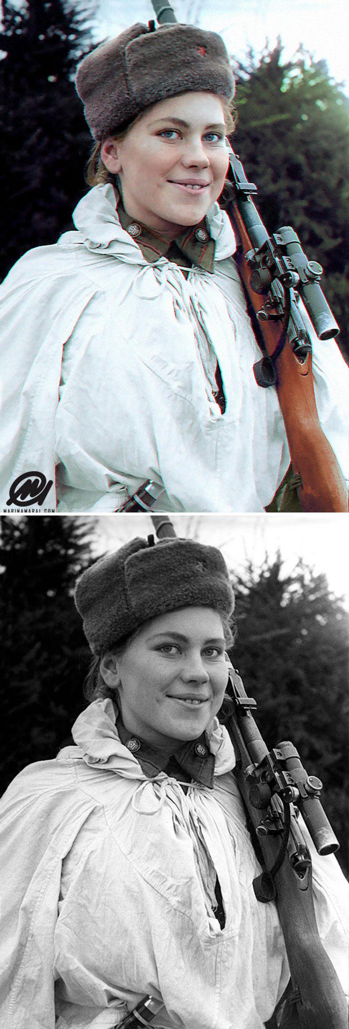 Roza Shanina, un francotirador ruso de la Segunda Guerra Mundial de 19 años con 59 asesinatos confirmados [19659003] </p data-recalc-dims=