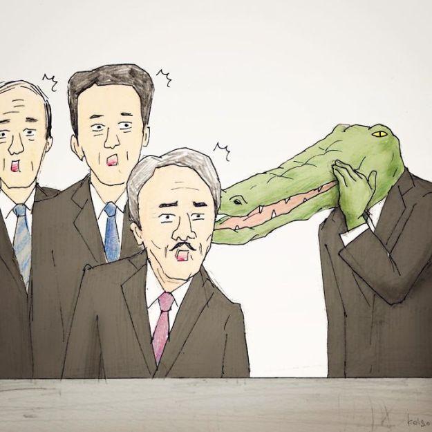 crocodile-life-animals-illustrations-keigo-japan-24-5b7a7d016eba2__700 20+ Problems Of A Crocodile Hilariously Illustrated By Japanese Artist Keigo Design Random