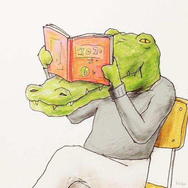 crocodile-life-animals-illustrations-keigo-japan-4-5b7a7cca8d874__700 20+ Problems Of A Crocodile Hilariously Illustrated By Japanese Artist Keigo Design Random