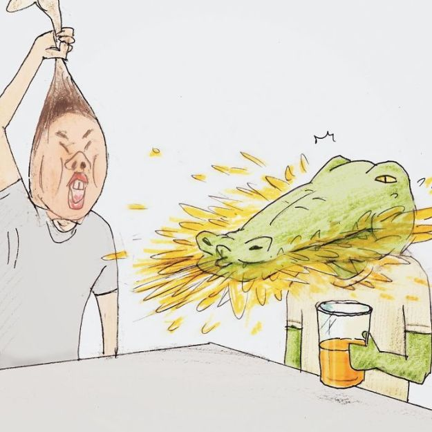 crocodile-life-animals-illustrations-keigo-japan-40-5b7a7d313e81a__700 20+ Problems Of A Crocodile Hilariously Illustrated By Japanese Artist Keigo Design Random