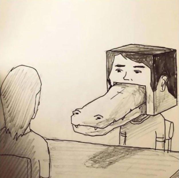 crocodile-life-animals-illustrations-keigo-japan-43-5b7a7d3a1243a__700 20+ Problems Of A Crocodile Hilariously Illustrated By Japanese Artist Keigo Design Random