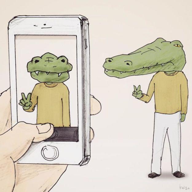 crocodile-life-animals-illustrations-keigo-japan-7-5b7a7cd192afd__700 20+ Problems Of A Crocodile Hilariously Illustrated By Japanese Artist Keigo Design Random