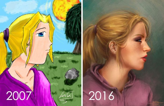 Una pequeña evolución a través del tiempo