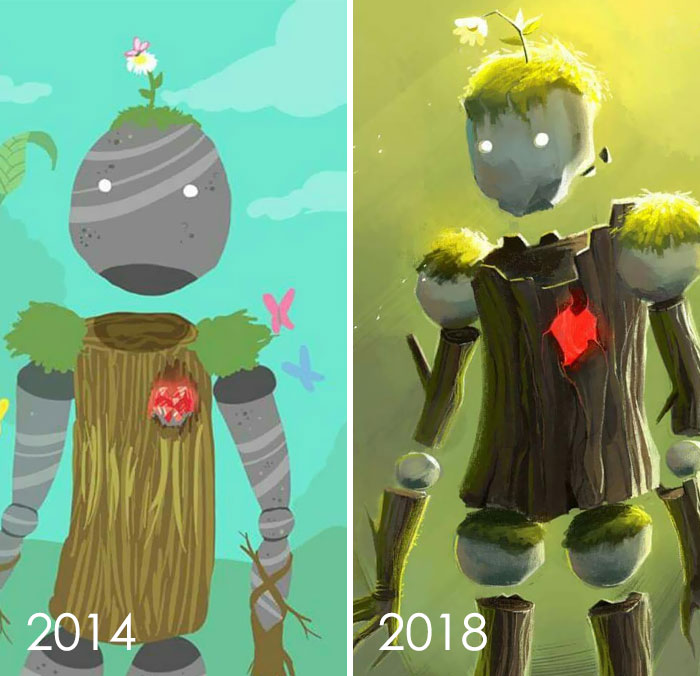 Una reconstrucción de un dibujo anterior de 2014. Es Es bueno ver cómo mi estilo de arte también cambió