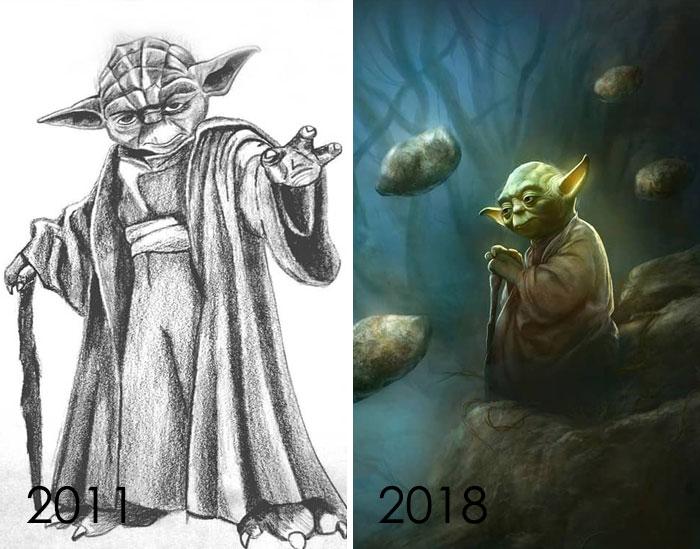 A veces pienso que no avanzo o que mejoro, y luego encuentro mis dibujos de Años atrás
