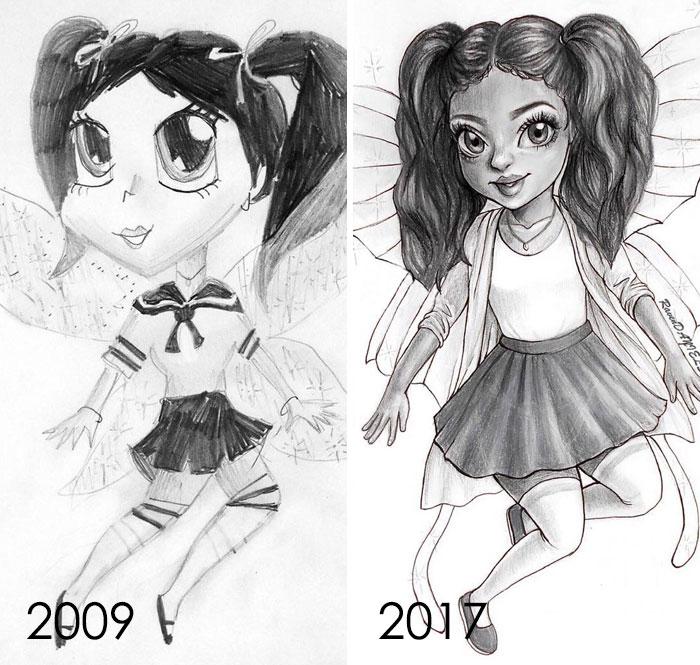 Entonces en mi 12 años de edad, Mind Preppy Igualado Un School Girl Outfit. ¡Fue muy divertido redibujar esto! Enorme refuerzo de confianza
