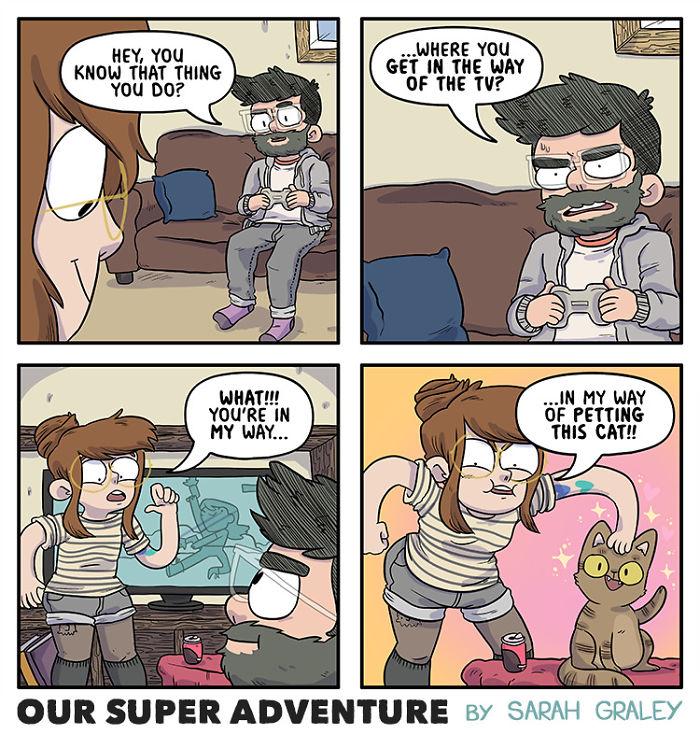 Relación-Cómics-Boyfriend-Cats-Sarah-Graley-Ilustración