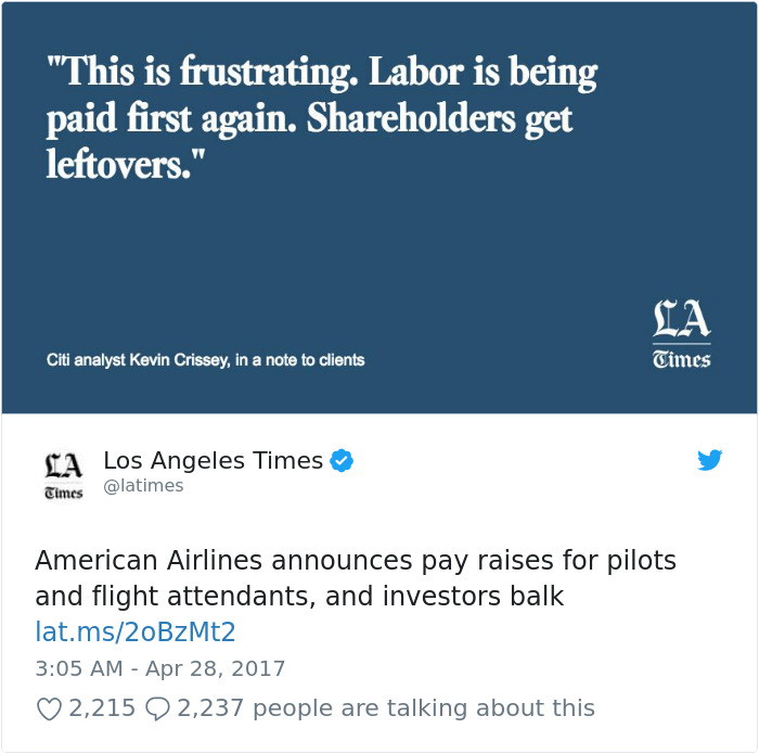 American Airlines Announces Pay Raises For Pilots And Flight Attendants, And Investors Balk