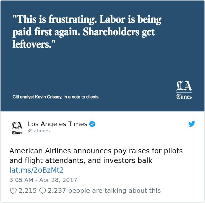 American Airlines anuncia aumentos salariales para pilotos y asistentes de vuelo, e inversores Balk
