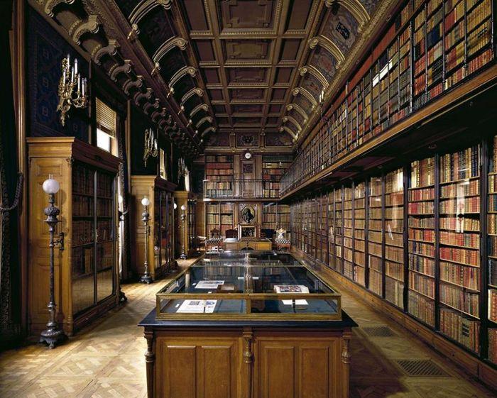 Library Of Duke D'aumale, Sicily, Italy