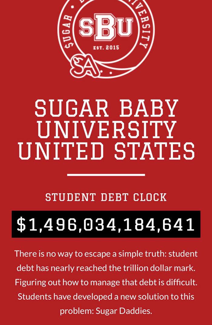 Este sitio web de acompañamiento presenta un Stu actualizado en vivo abolladura reloj de la deuda