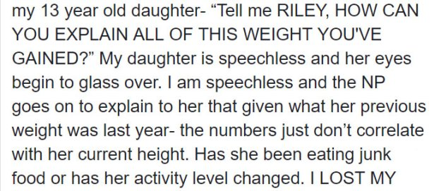 """mom-reaction-nurse-body-shaming-daughter-7-5b9a1789e109a__700 The Way This Nurse """"Body-Shamed"""" This Teen Infuriated Her Mom, But Some Think The Nurse Did The Right Thing Design Random"""