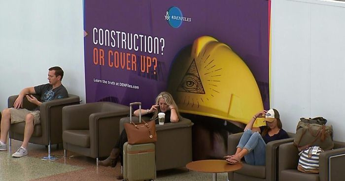 Denver International Airport Trolls Travelers With The