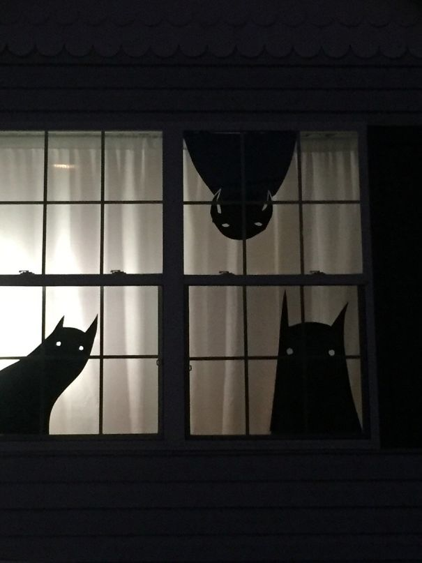 Money Is A Bit Tight Right Now So I Made Some Homemade Halloween Decorations. Turned Out Pretty Good, I Think