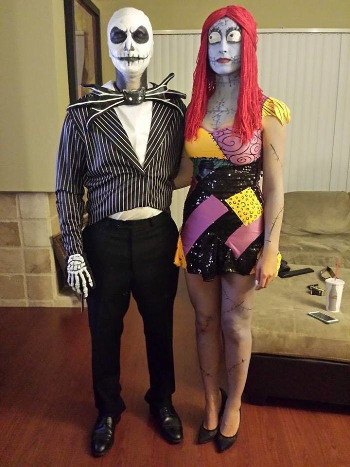 My Girlfriend And I Decided To Do A Couples Costume For The First Time! All Done With Makeup, No Masks
