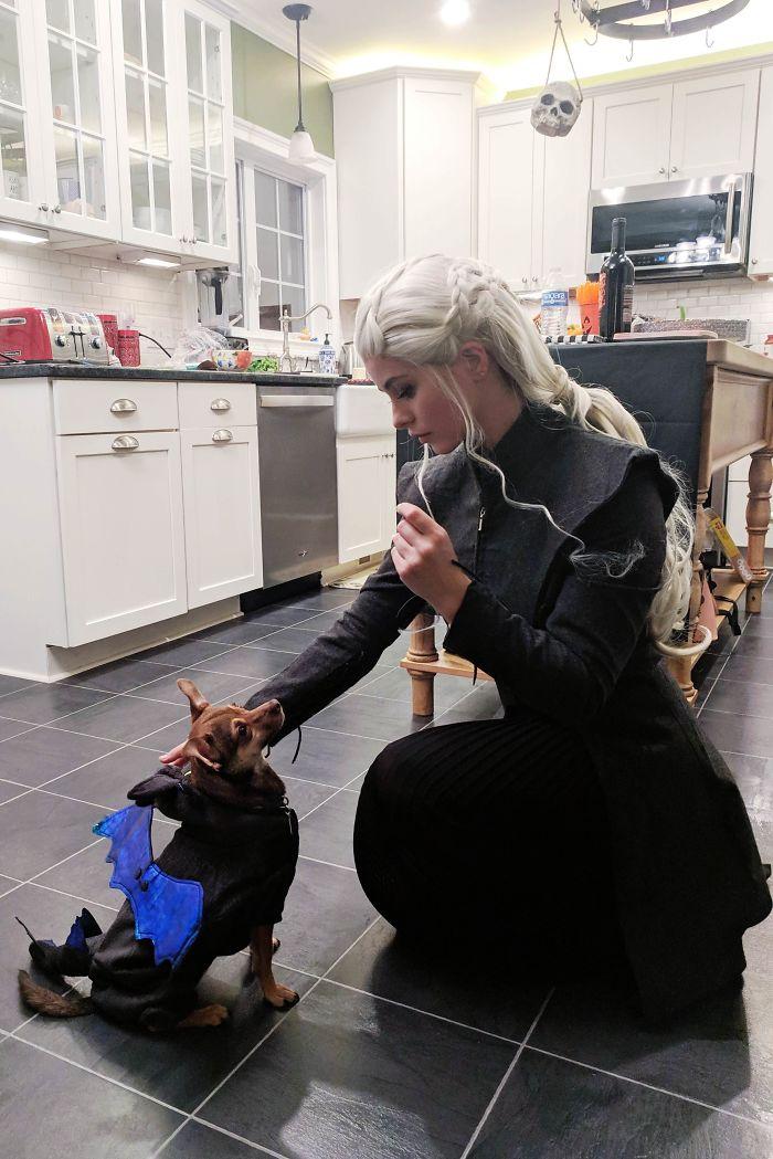 Traído a lo largo de mi pequeño Drogon a una fiesta de Halloween