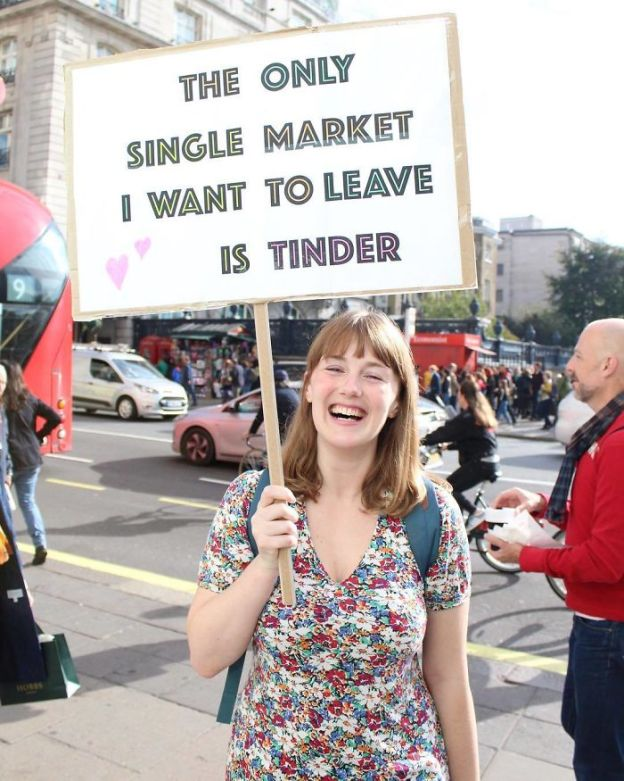 BpJ56Lzn1kA-png__700 25+ Of The Funniest Signs From The Anti-Brexit March Design Random