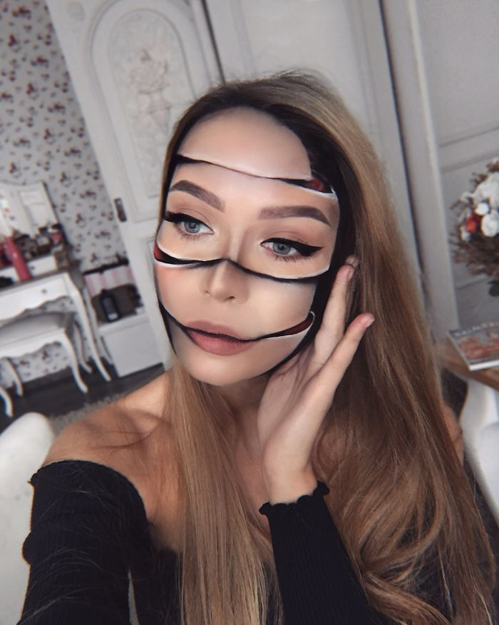 Me transformé con maquillaje de Halloween