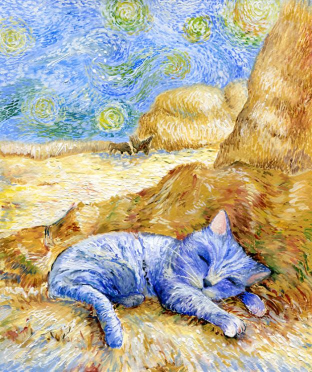 cat9_big-5bbc536827769__700 I Challenged Myself To Paint 12 Cats In Different Art Styles Art Design Random