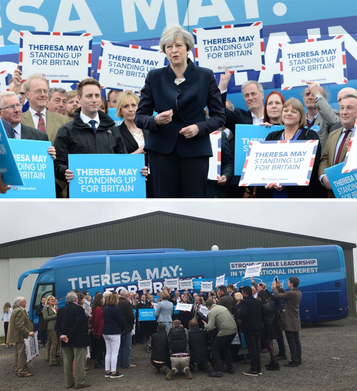 Conservative Leader Theresa May Launches The Party's Campaign Bus In Northumberland