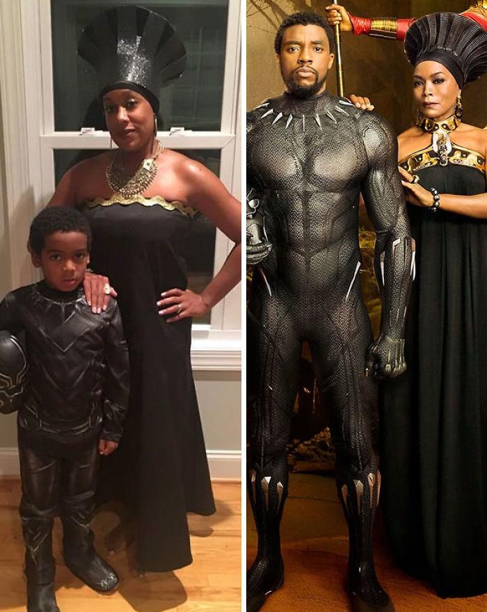 Disfraz de Halloween de madre e hijo 'Pantera negra'