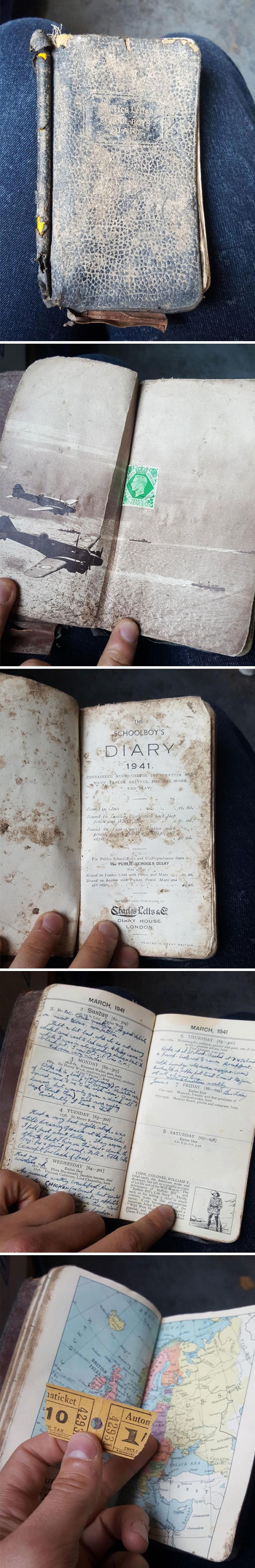 My Friend Works In Recycling. Encontró un diario lleno desde 1941