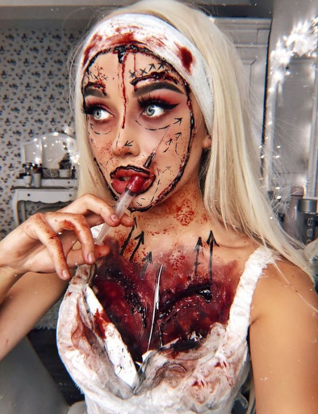 share-1-2-5bd203ba5b9d3-jpeg__700 One Year Ago I Discovered My True Passion Was Makeup, Here're 20+ Of My Halloween Looks (NSFW) Art Design Random