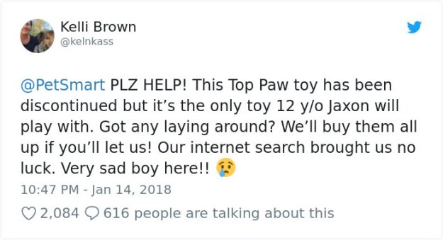 tweet2-5bcec3a84e8e1__700 Pet Store Discontinues The Only Toy This Elderly Dog Plays With So Owner Asks Help From The Internet Design Random