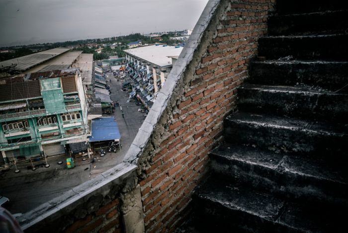 Tenements That House Burmese Workers In The Thai Fishing Industry In Samut Sakhon
