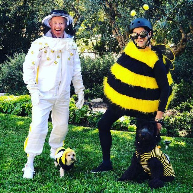 Jesse Tyler Ferguson y su esposo como abeja y apicultor