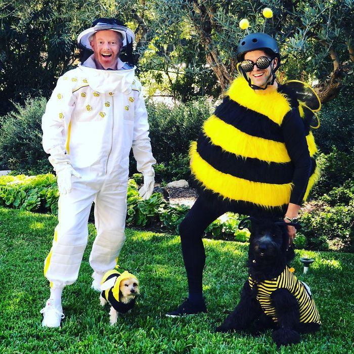 Jesse Tyler Ferguson And His Hubby As A Beekeeper And Bee