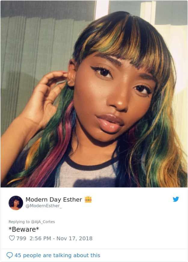 1063808063507972097-png__700 This Woman Had The Best Comeback Ever To A Man Who Said To Stay Away From Women With Dyed Hair Design Random