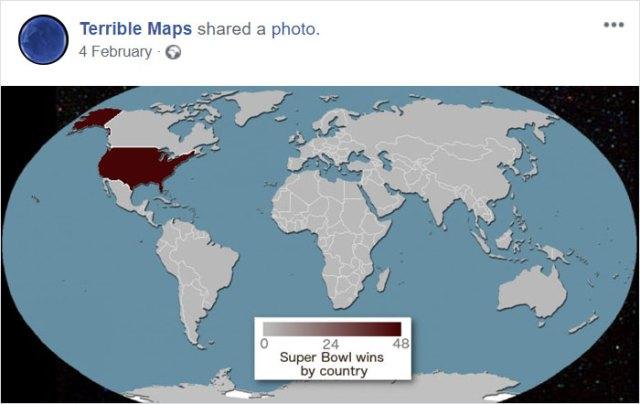 Países que han ganado la Super Bowl