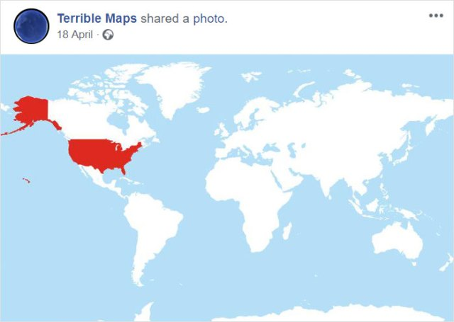Mapa de todos los paises del planeta que utilizan el formato Mes / Día / Año