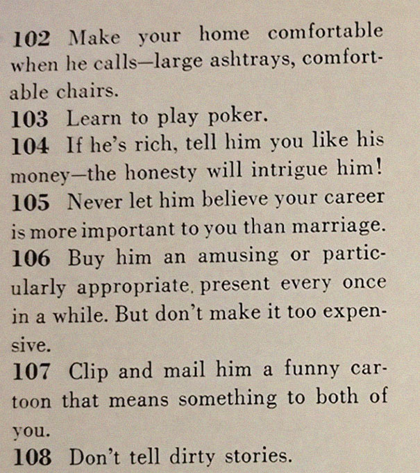 13image-5be14ed2c9883__605 This '129 Ways to Get a Husband' Article From 1958 Shows How Much The World Has Changed Design entertainment Random
