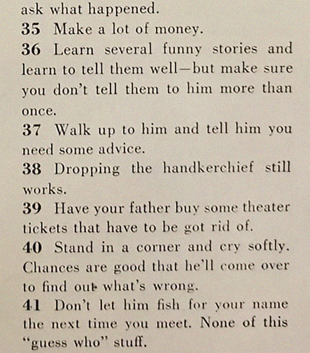 4image-5be14ebfd93bb__605 This '129 Ways to Get a Husband' Article From 1958 Shows How Much The World Has Changed Design entertainment Random