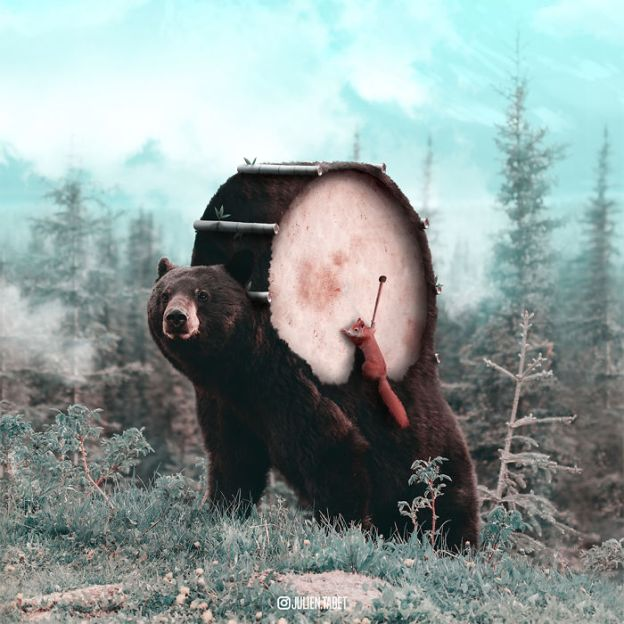 Bear-5bdb8e709b2a7__700 Here's How I Imagine Animals Behave When You Aren't Looking (10+ Pics) Design Random