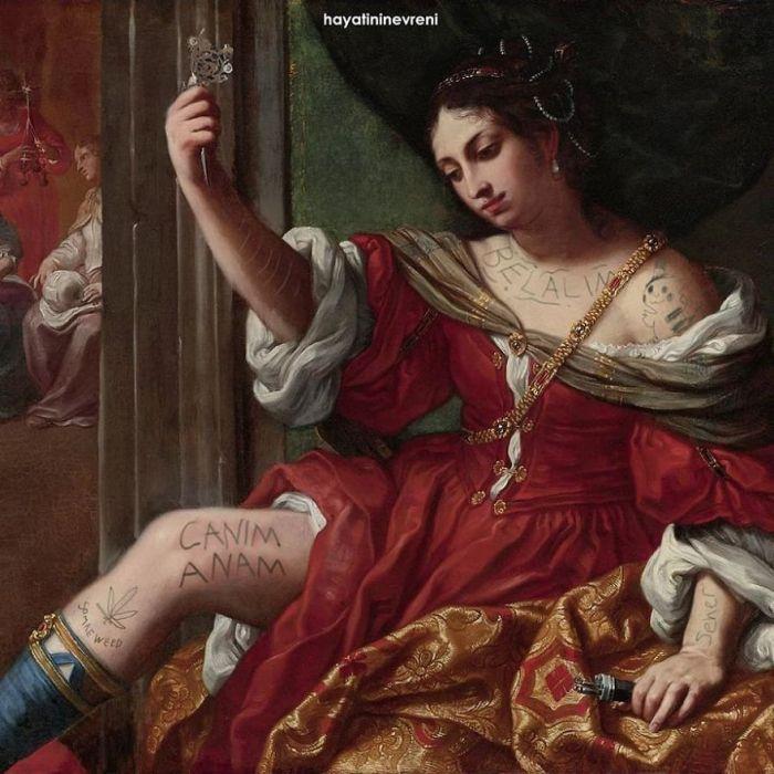 Elisabetta Sirani, Portia Wounding Her Thigh