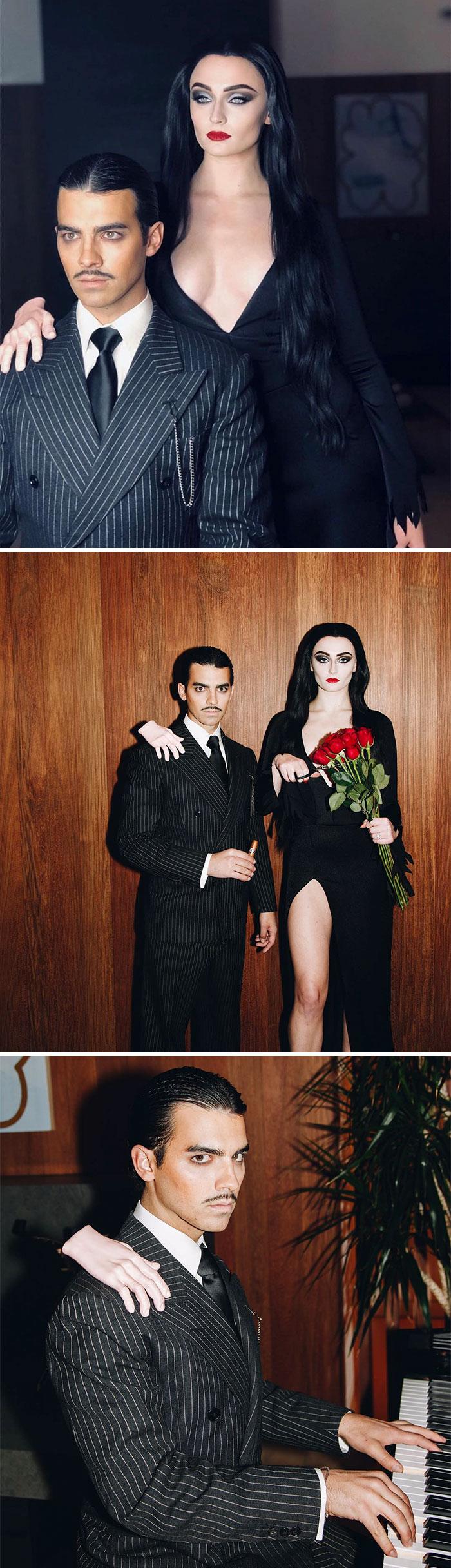 Sophie Turner And Joe Jonas As Morticia And Gomez Addams