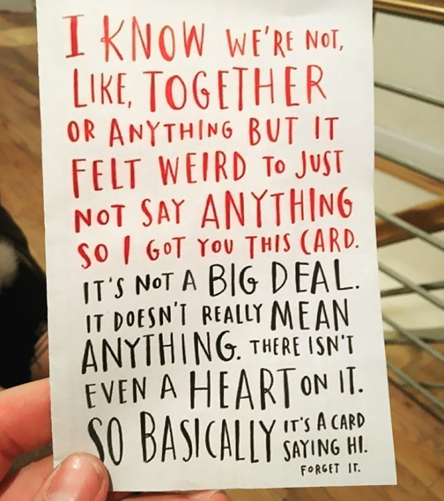 "My GF Got Me This Card On Valentine's Day Of This Year Before We Were Officially ""Dating."" It Still Makes Me Smile"
