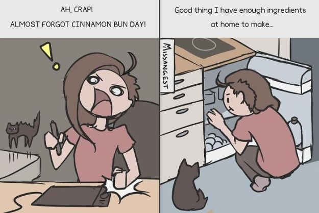 relatable-cat-comics-missangest-11-5be150ac0843f__700 12 Funny Comics Reveal The Reality Of Owning A Cat Design Random