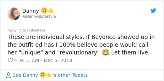 1070244221448282112-png__700 Woman Calls Out The Way Ed Sheeran Dressed Next To Beyonce, Gets Destroyed On Twitter Design entertainment Random