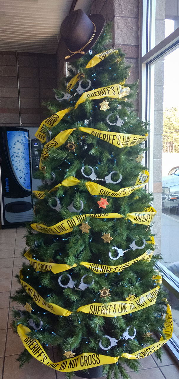 Christmas Tree At Local Sheriff's Office