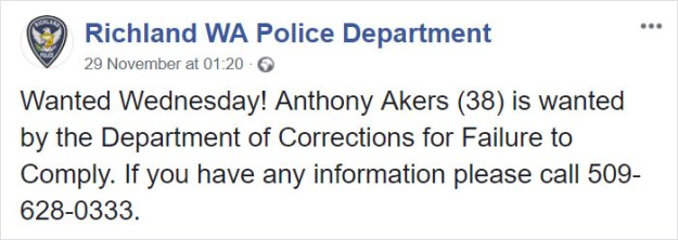 guy-responds-police-wanted-post-anthony-akers-5c08d97d66310__700 Police Release A 'Wanted' Post On Facebook, The Guy Himself Responds And They Have A Hilarious Conversation Design Random