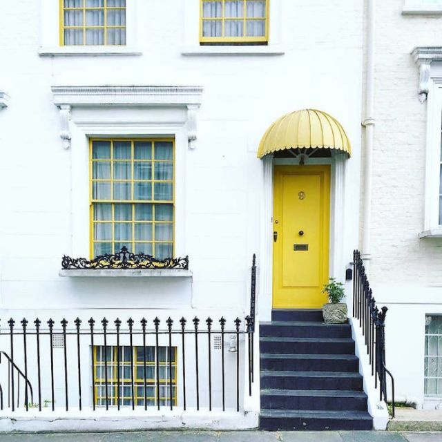 Woman Captures London's Most Beautiful Front Doors And They Look Straight Out Of A Wes Anderson Movie