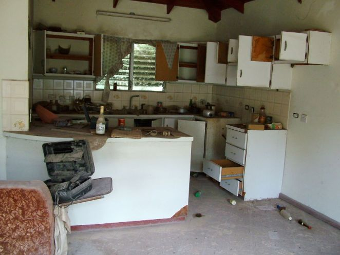 Looted Home, Stove & Fridge Stolen