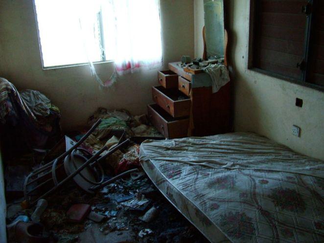 Looted Bedroom
