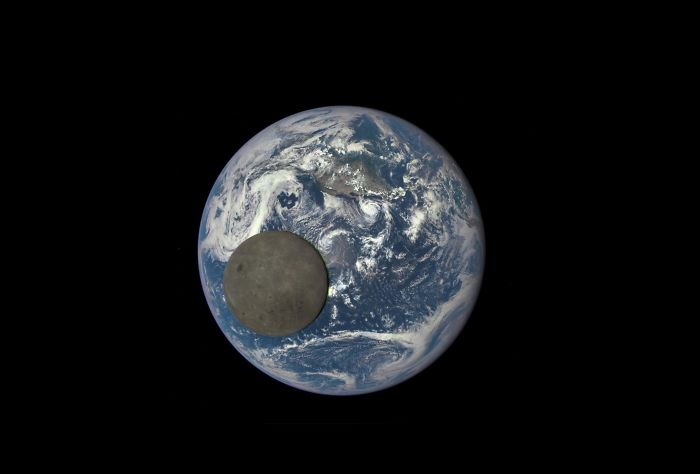 The Dark Side Of The Moon Passing In Front Of The Earth, Captured From One Million Miles Away