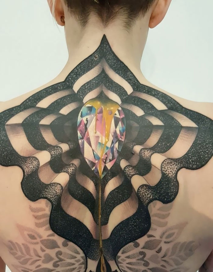 Collaboration Of Two Tattoo Artist For This Amazing Piece